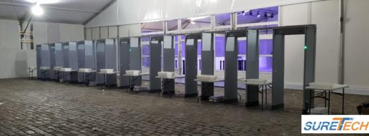 location de portique de sécurité pour des salons professionnels
